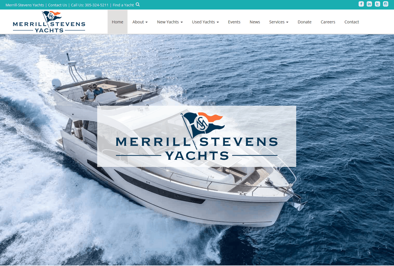 Merrill Stevens Yachts Miami Website by iSatisfy.com