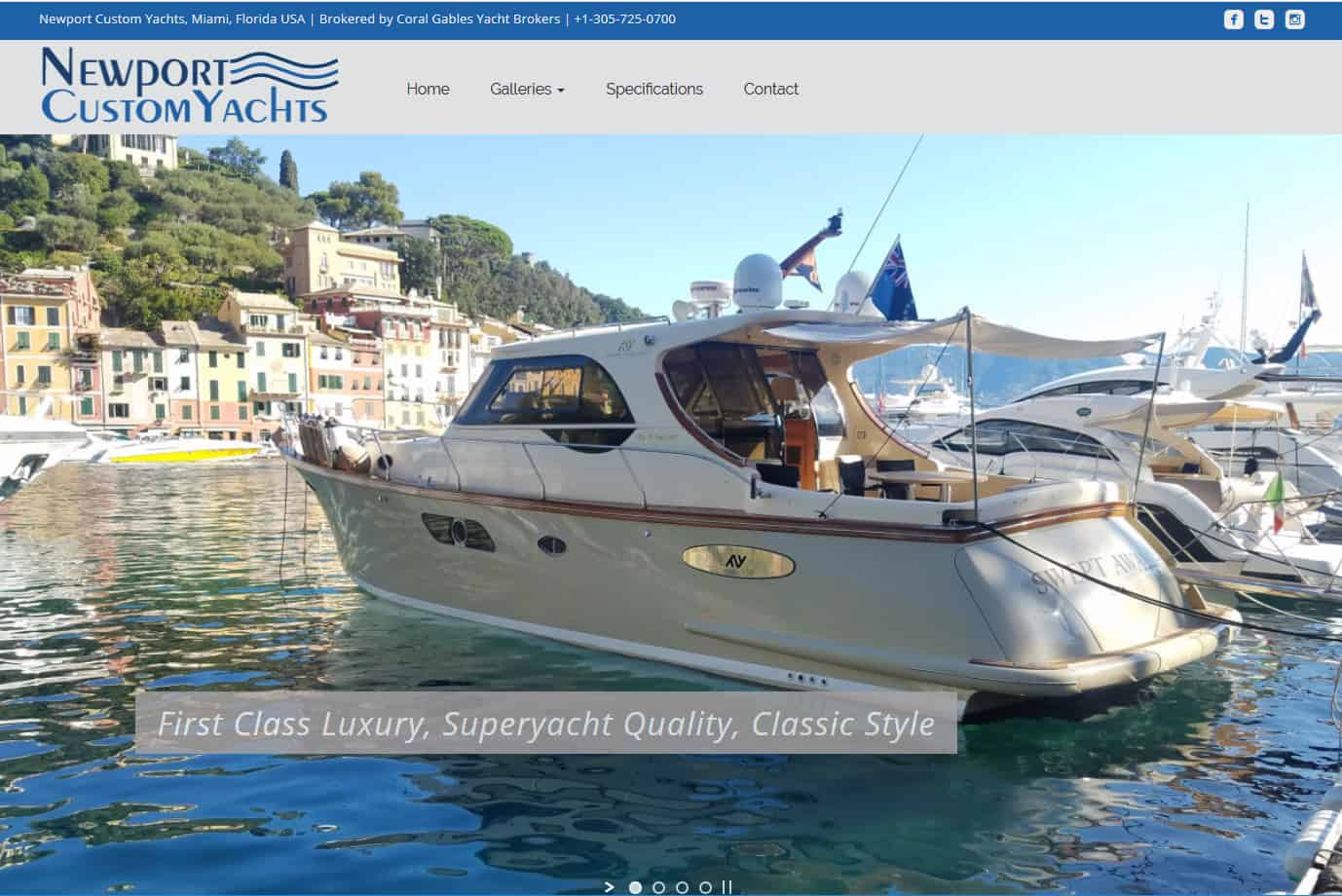 Newport Custom Yachts Website by iSatisfy.com