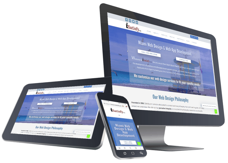 Responsive Web Design by iSatisfy.com